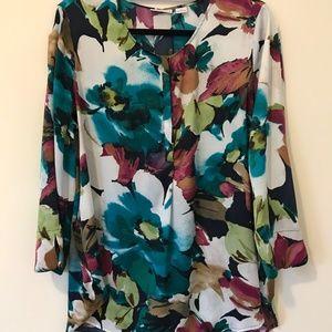 Liz Claiborne Floral Print Tunic Top